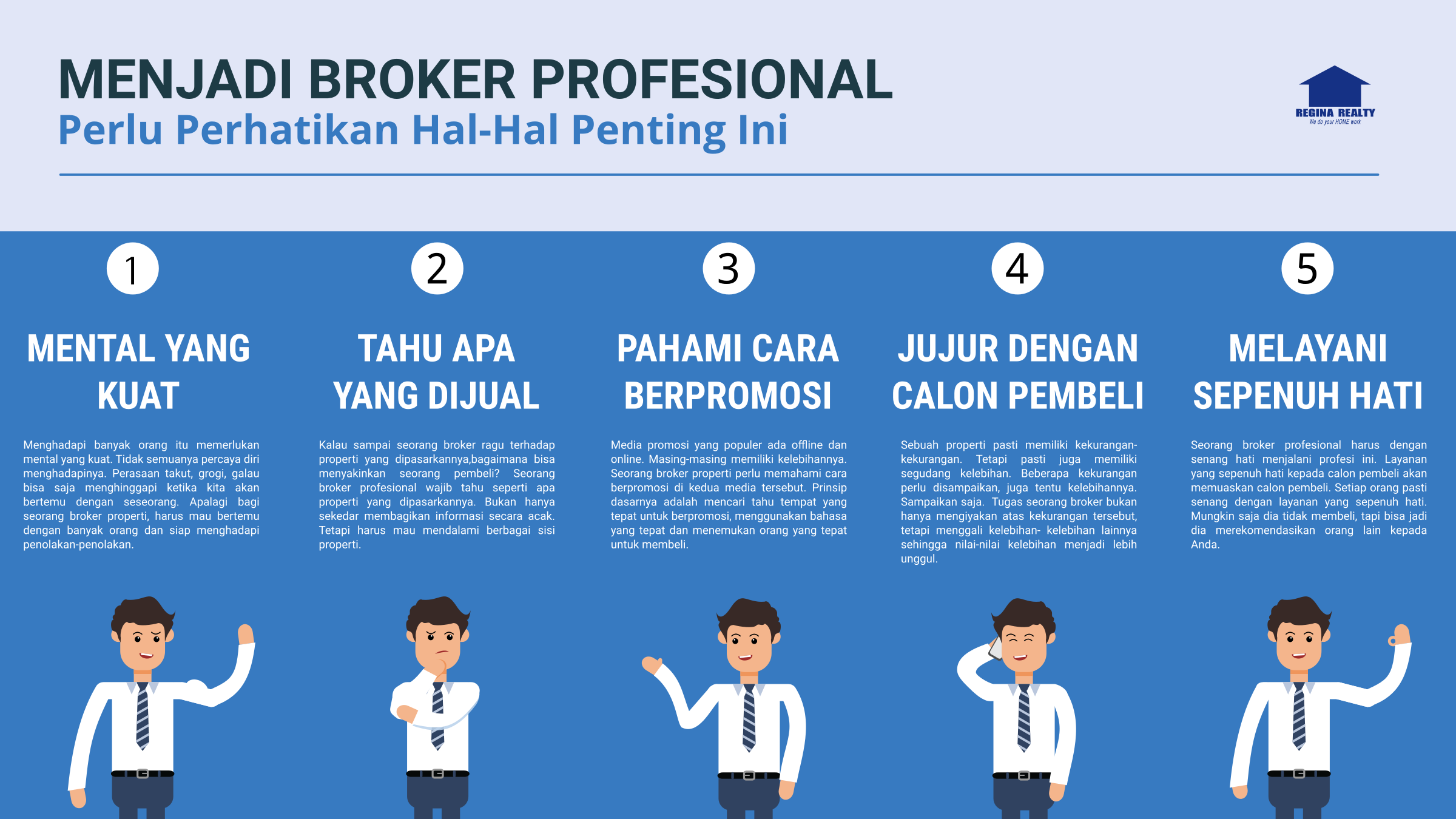 Hal Hal Penting Menjadi Broker Profesional Regina Realty