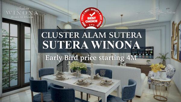 Cluster Alam Sutera Winona - Early Bird price starting 4M